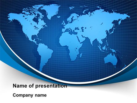 wwwpptstar/powerpoint/template/global-map-in-blue - global powerpoint template