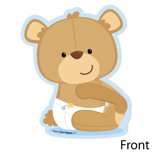 Bear Shaped Baby Shower Invitations Shaped Baby Boy Teddy Bear Baby