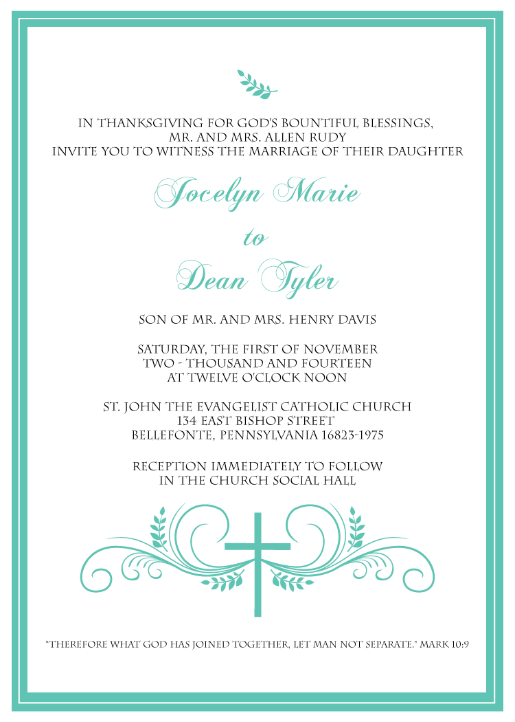 Send This Beautiful Christian Wedding Invitation Suite To Family And Friends Show Just How Thankful