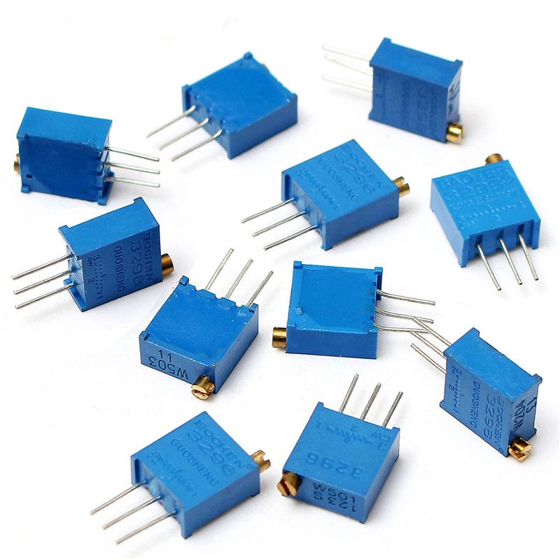 $10.40 (Buy here: http://appdeal.ru/3tko ) 12 value 60PCS 3296 W Potentiometer Assorted Kit Variable Resistor Resistive New Arrival High Quality for just $10.40