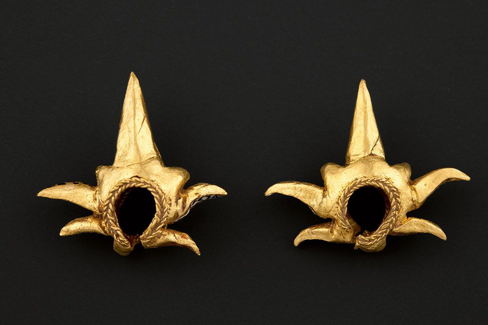 (Philippine) Gold  Ear Ornaments. Ayala Museum