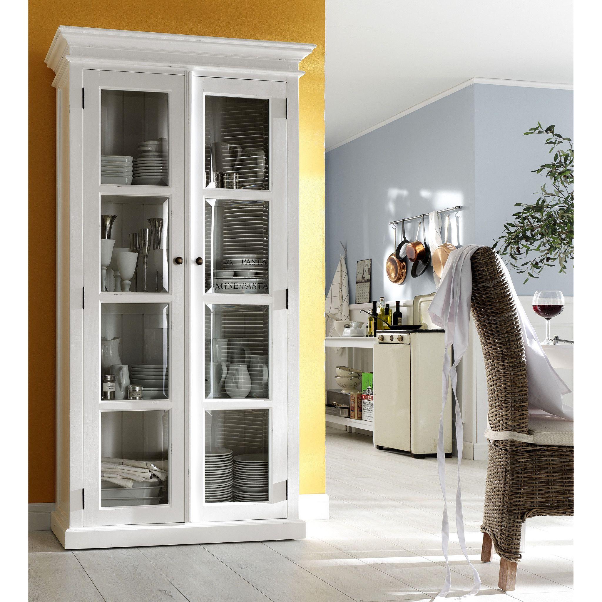 Great Danish Furniture | Double Glass Door Mahogany Armoire / Vitrine. | H12703