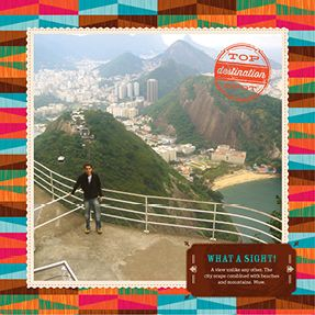 Passport to South America, 10x10, Genuine leather cover with layflat pages, Storytelling Style