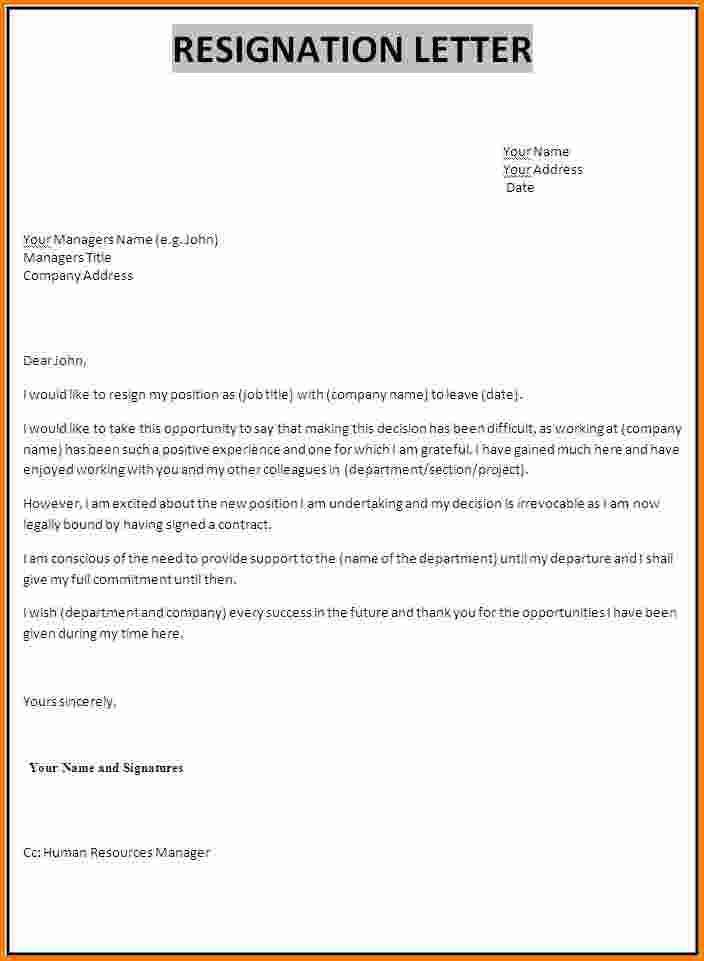 Hours Resignation Letter Samples  Resignation Letter Letter
