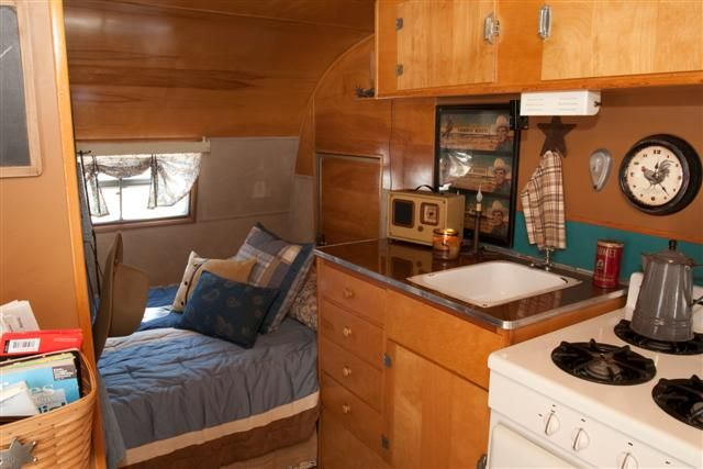 Travel Trailer Interior Of The 1955 Trotwood Cub