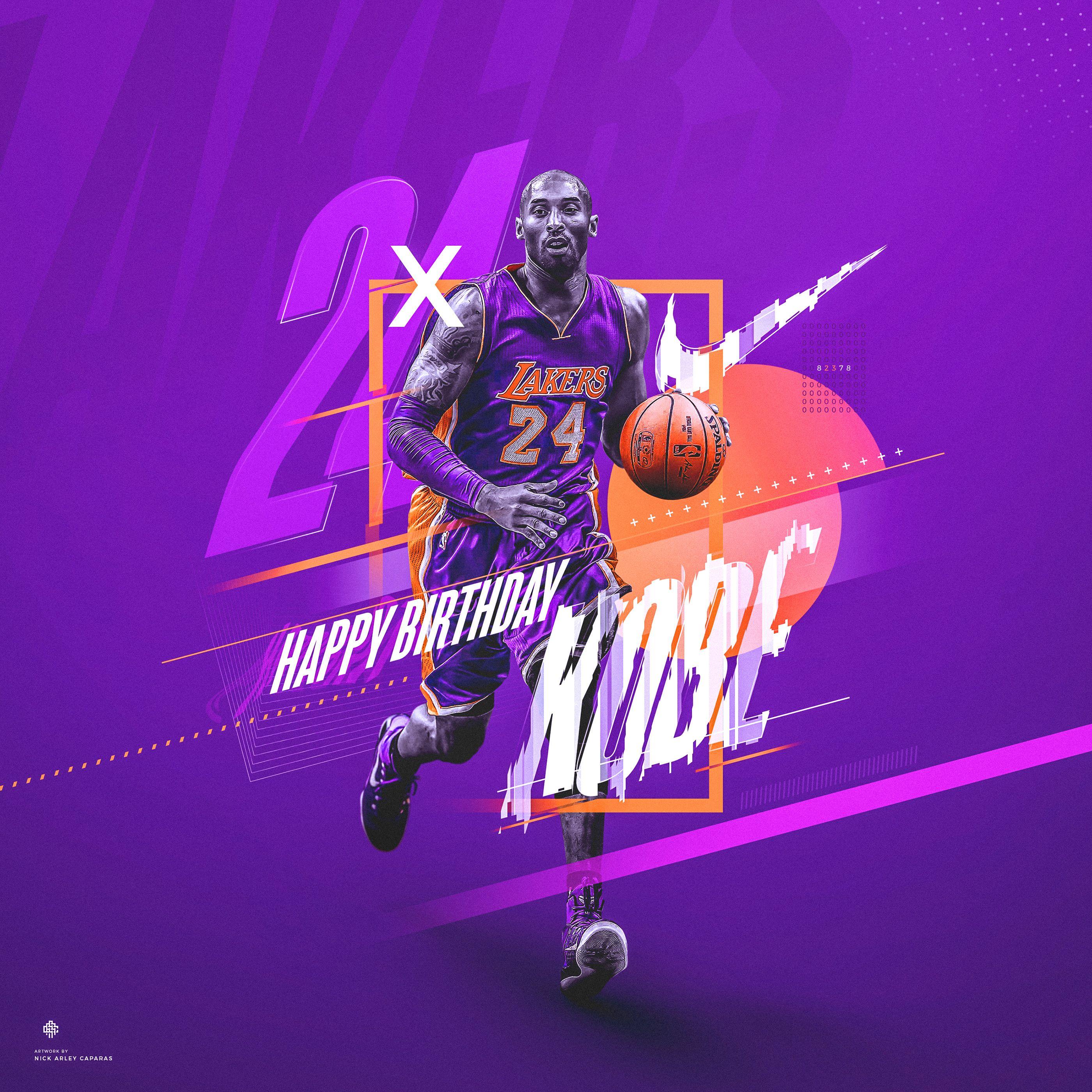 Nike (Spoof) Kobe Bryant 24 Birthday Graphic on