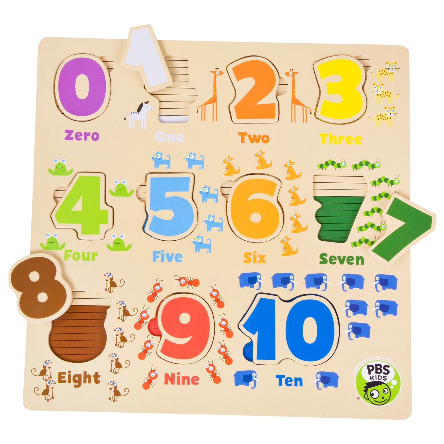 Count To 10 With This Wooden Number Puzzle Number Puzzles Pbs Kids Kids