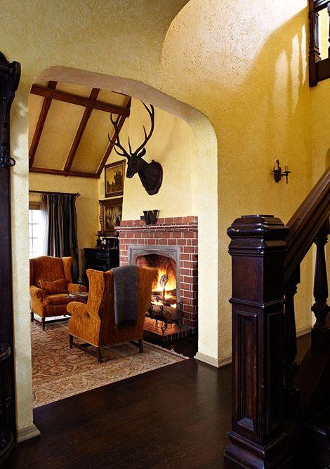 Old world style for a tudor revival house in 2019 tudor - Tudor style house interior ...
