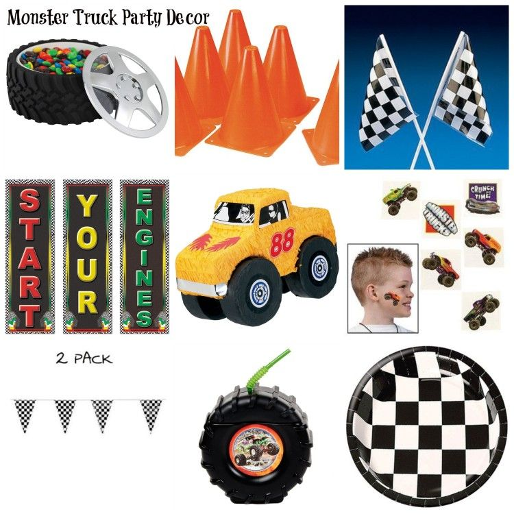 Monster Truck Party Decor Monster Truck Party Monster Truck