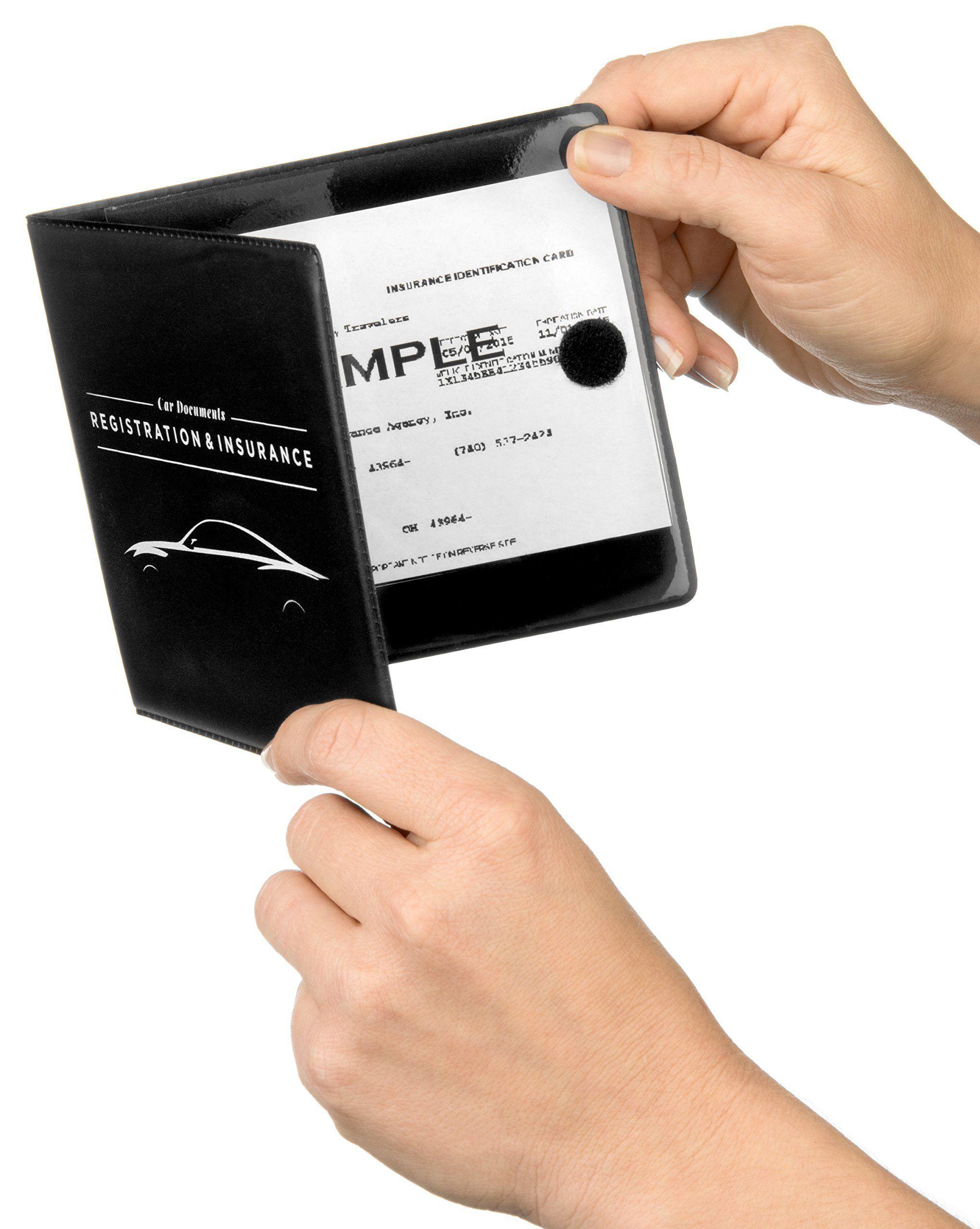 Car documents holder case 5 x 45 for insurance dmv