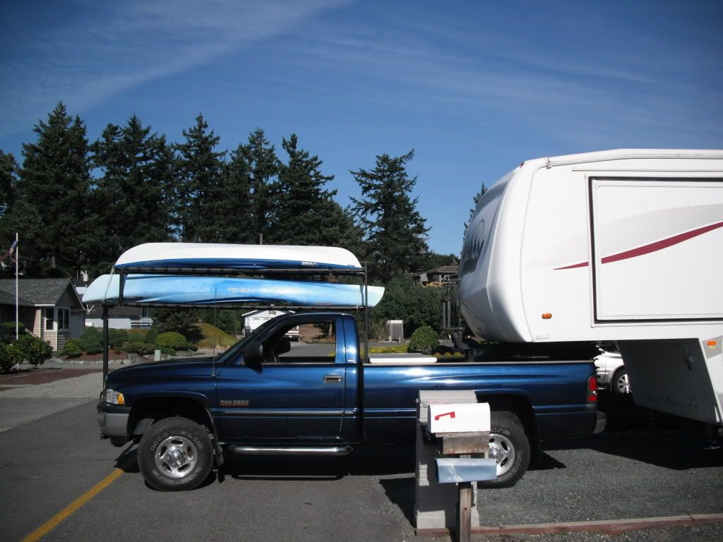 Home Made Solution For Hauling Kayaks With A 5th Wheel Camper