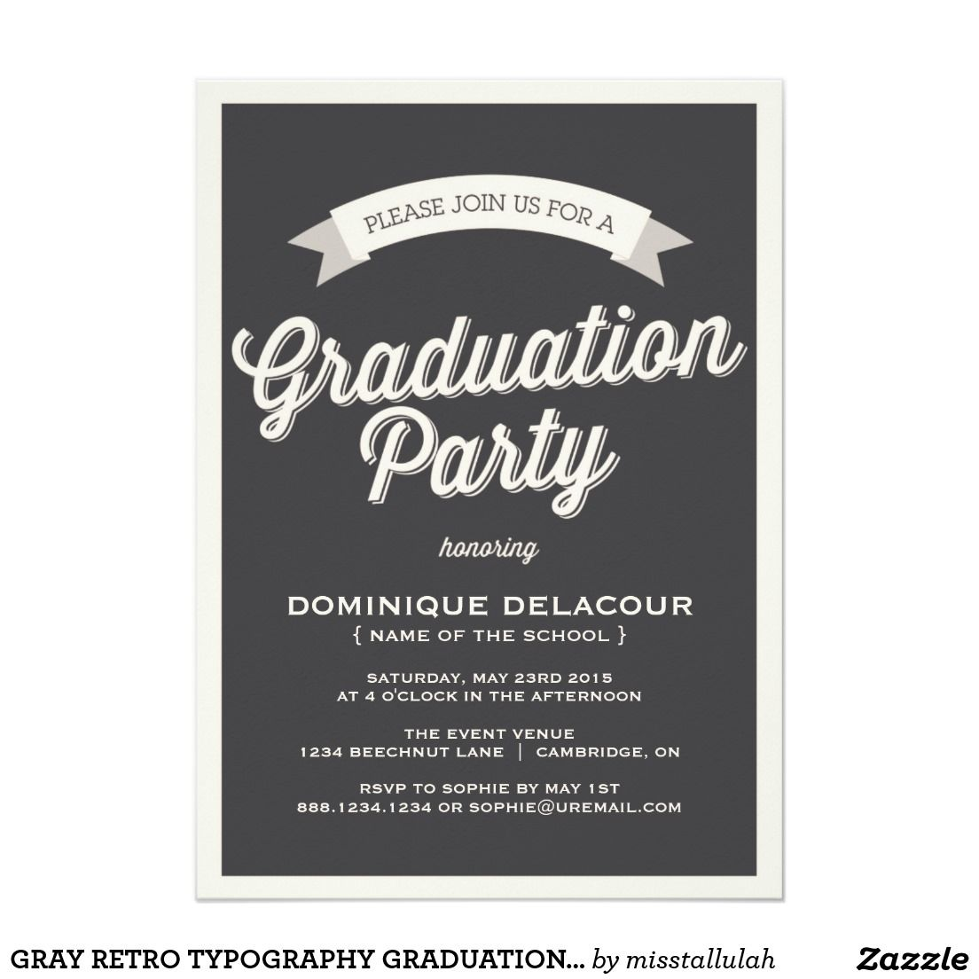 Best Grad Party Invites Templates Invitstiond By Own Pinterest
