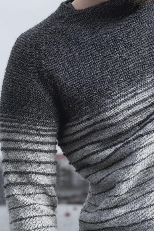 Miehen raglanhihainen neulepusero Novita Nalle | Novita knits