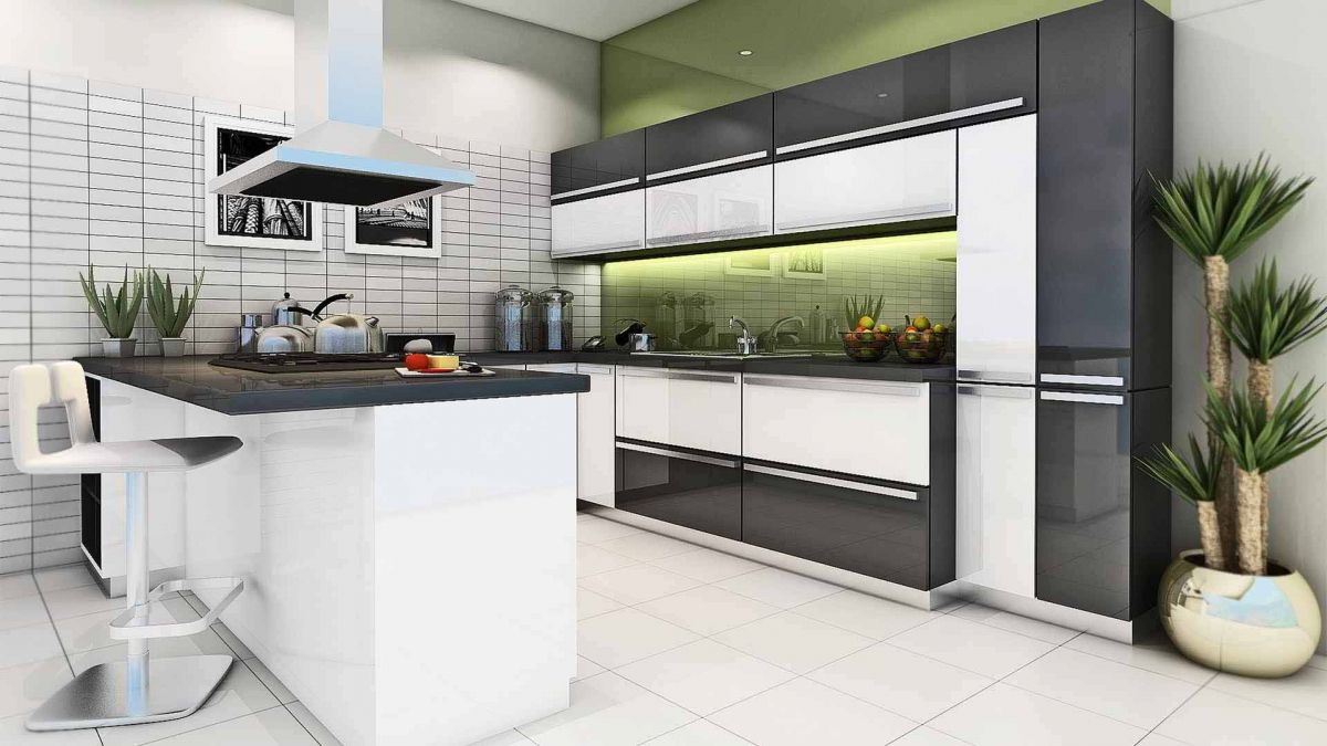 Modular Kitchen Manufacturer Hettch Haffle Stylus Blum Godrej Ect Fittings Modular Kitchen