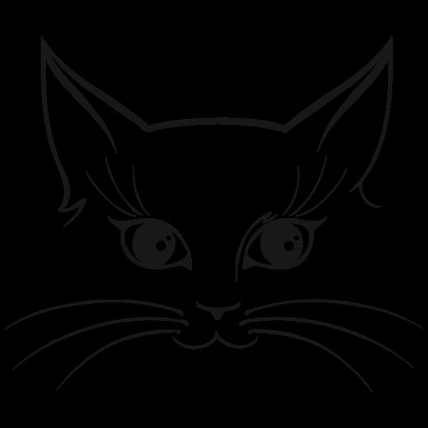 Resultado De Imagen Para Caras De Gato Para Imprimir Contorno De Gato Cara De Gato Siluetas Animales