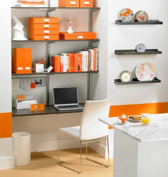 sample of Decorating A Small Office Space  Furniture  Decor