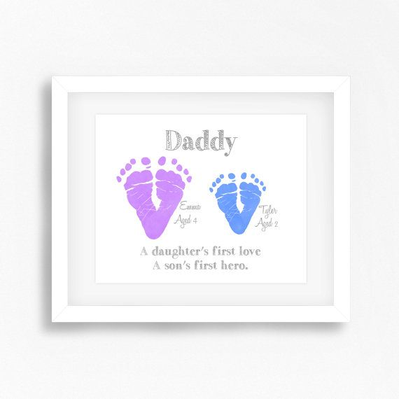Personalised Daddy Gift Dad Valentine By PerfectLittlePrints