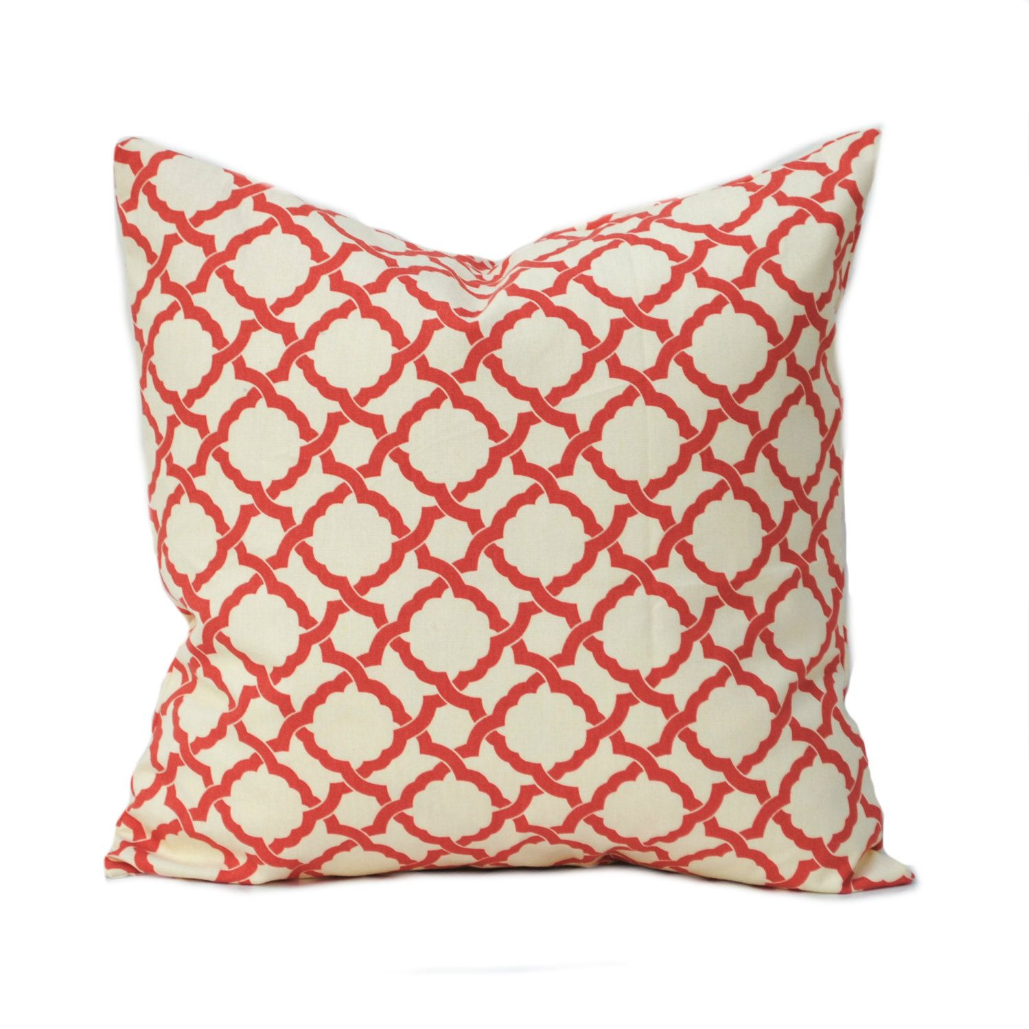 One Waverly Pillow Cover Home Decor Decorative Pillow Throw Pillow Coral Pillow Grey Pillow Medallion Pillow