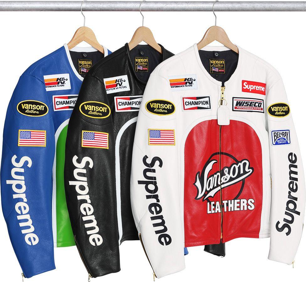 Supreme X Vanson Leather Star Jacket