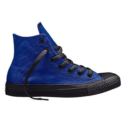 c02da083c0bc royal blue and black Converse Chuck Taylor All Star Hi Top Canvas shoe.