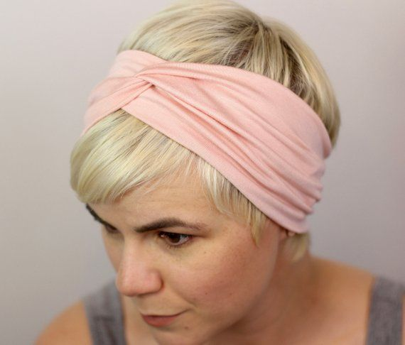 Pink Turban Headband Light Mauve Wide Headband Light Pink Womens