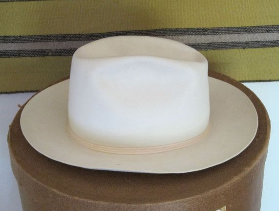 Cowboy Hat and Hat Box Moore Hat Co Home of the by Alveta on Etsy ... 1b50e4cb4ad2