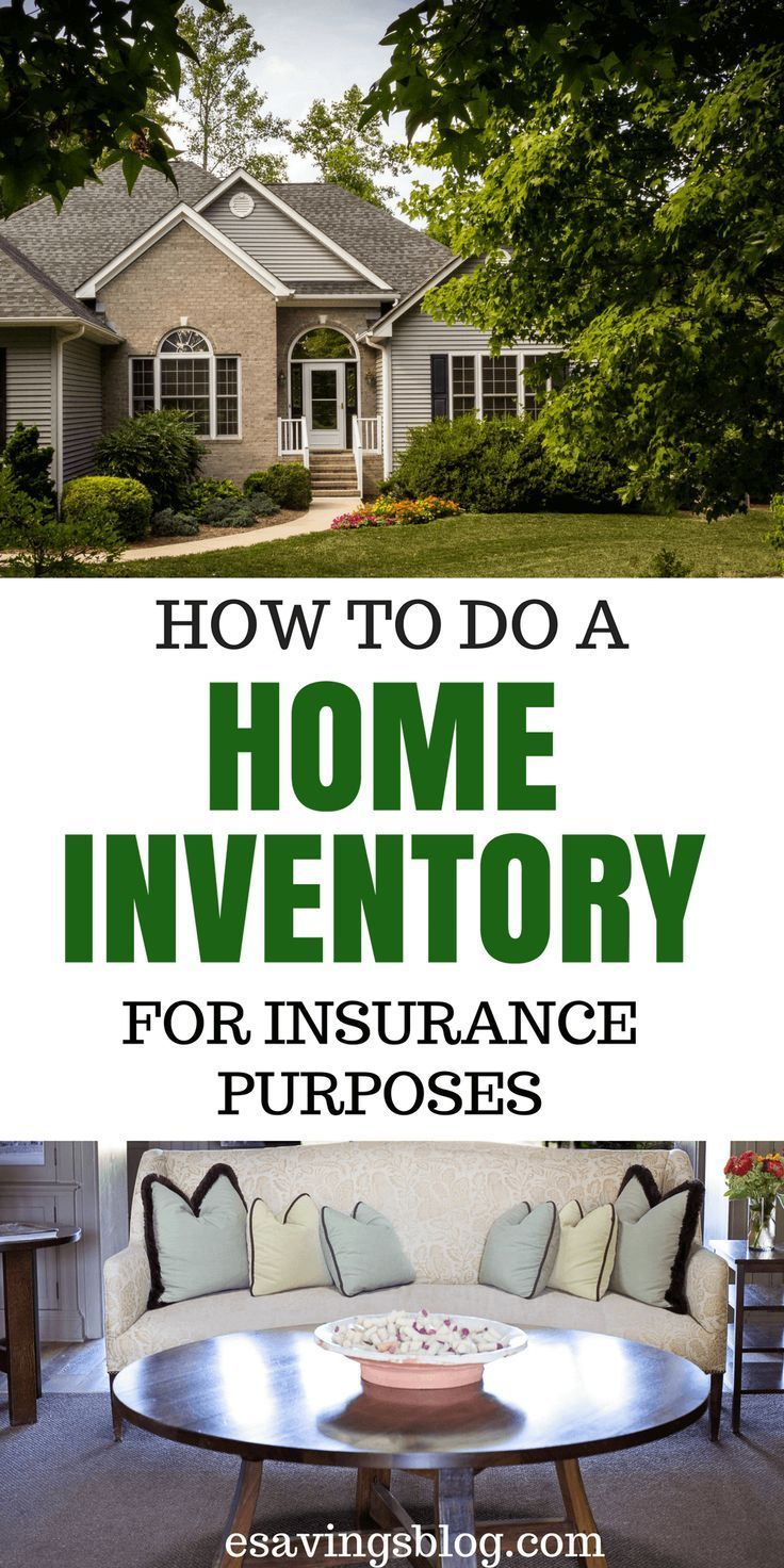 Create a home inventory for insurance purposes low car