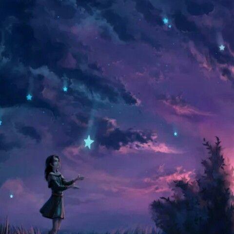 ها أنا قبل النوم اجمع طاقتي واداعب نجومي التي في السماء أخبر كل واحدة عما يدور بداخلي في هذة الليلة الجميلة كل النجوم ساط Pictures Fantasy Falling Stars