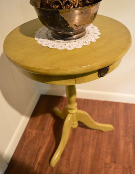 Antiqued Vintage Accent Table by EightySixRevival on Etsy