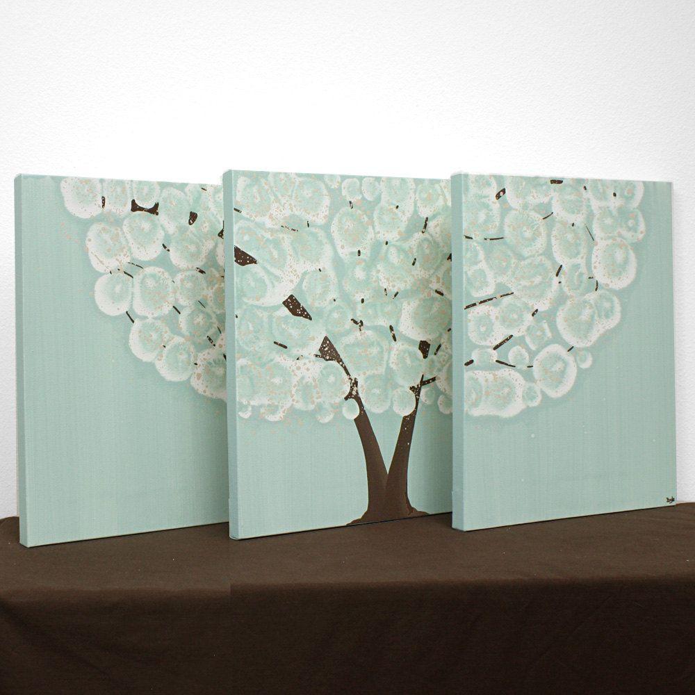Tree wall art original acrylic painting canvas by amborela home