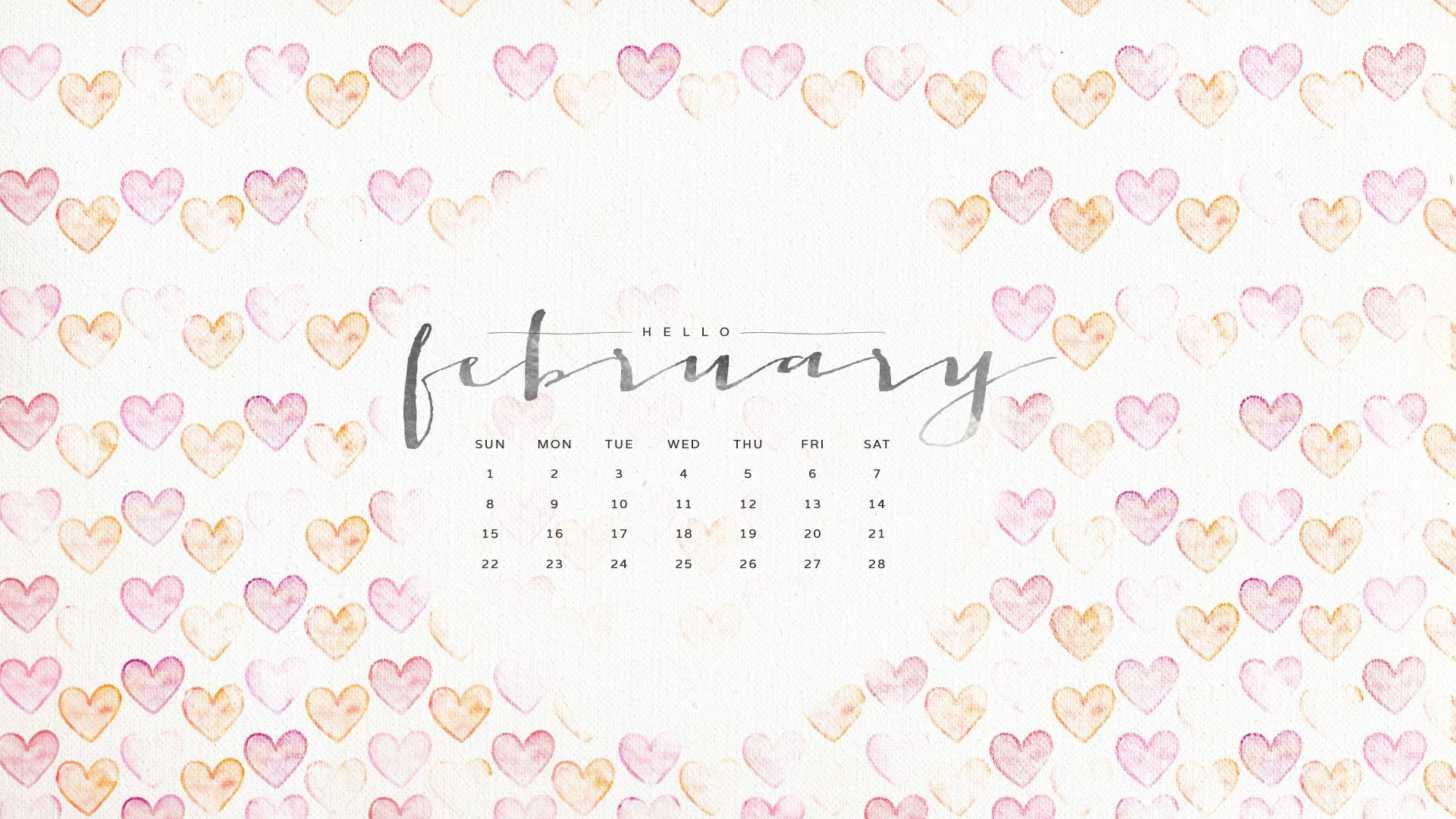 valentines february calendar wallpaper sarah hearts