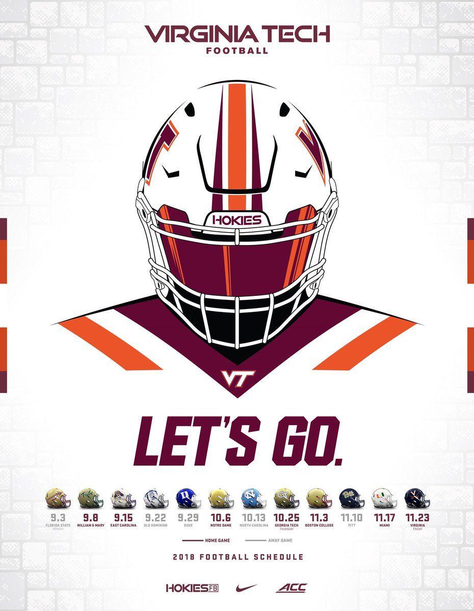 Virginia Tech Virginia Tech Sports Graphic Design Virginia Tech Football
