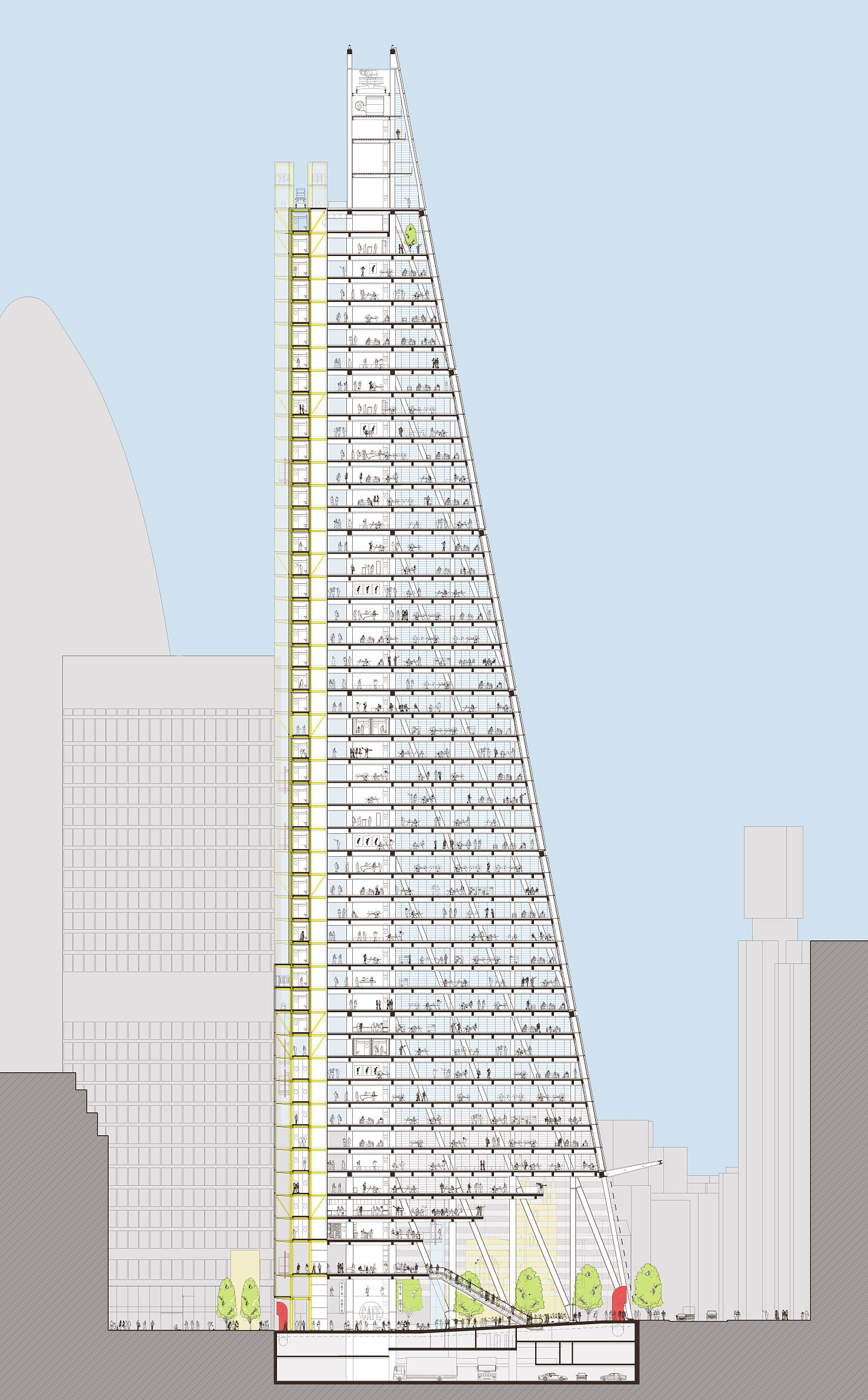 Leadenhall building 1476 2379 sections for Architecture elevation