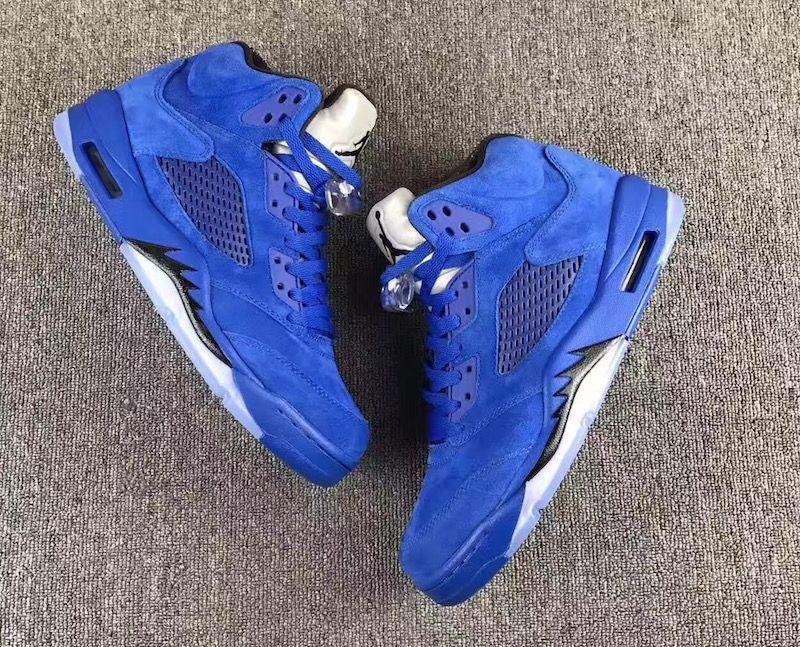 Air Jordan 5 Blue Suede Release Date Sneaker Bar Detroit