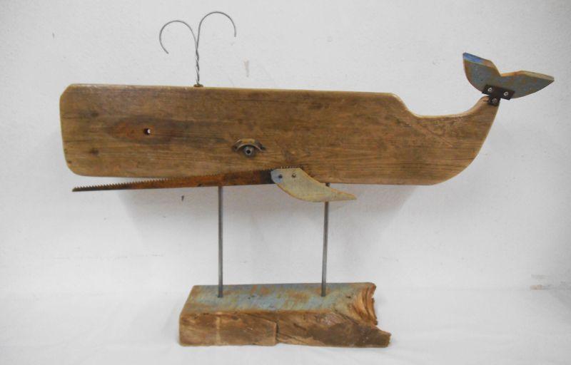 Assemblage Sculpture WHALE 1 --Measures: 62cm long, 42cm high, 10cm base width by 1UNIK http://1unik.blogspot.com.es/2015/07/6-assemblage-sculpture-whales.html