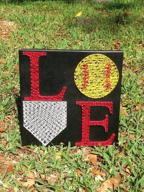 Love Softball String Art Artprojects Art Projects