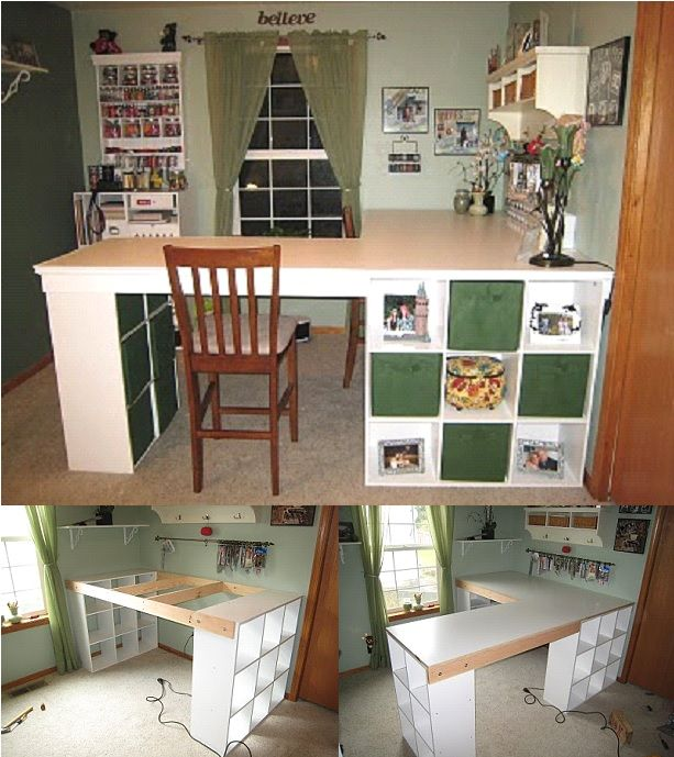 Craft room desk diy easy project video instructions craft desk diy craft desk solutioingenieria Image collections