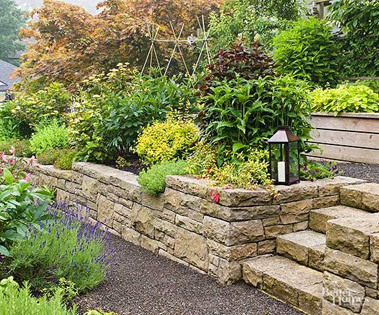Small Yard & Small Garden Landscaping Ideas | Sloping backyard ...