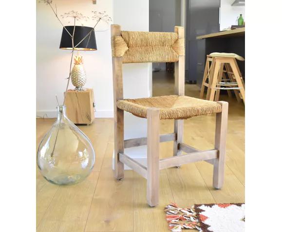 Chaise Paillee Design 50 S Bois Materiau Bois Couleur Classique Oqtwfy5 Chaise Paille Chaise Decoration Maison
