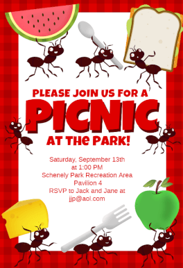 Picnic Party   Free Printable Dinner Party Invitation Template | Greetings  Island  Free Printable Dinner Party Invitations