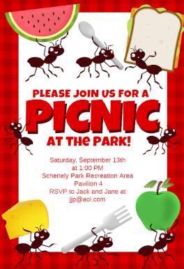 picnic invitation free template