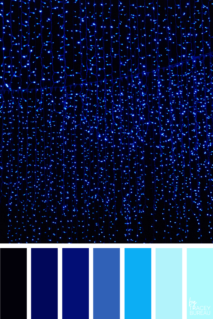 Hanging Blue Lights Color Inspired Palette by Tracey Bureau