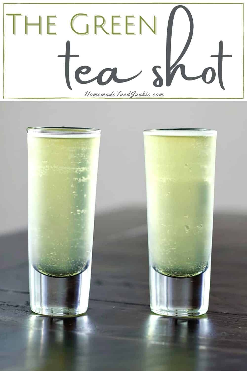 Our Tutorial Will Walk You Through How To Make A Green Tea Shot This Cocktail Is Also Known As The Jameson Gree Green Tea Shot Green Tea Cocktail Shot Recipes