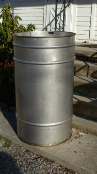 100 Gallon Stainless Steel Drum To Use As A Planter Stainless Steel Drum Stainless Steel Table Legs Stainless Steel Table