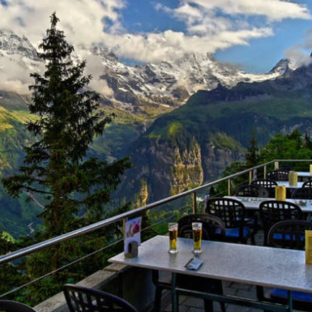 Amazing Places To Stay Switzerland: Cool Bar In Murren, Switzerland.