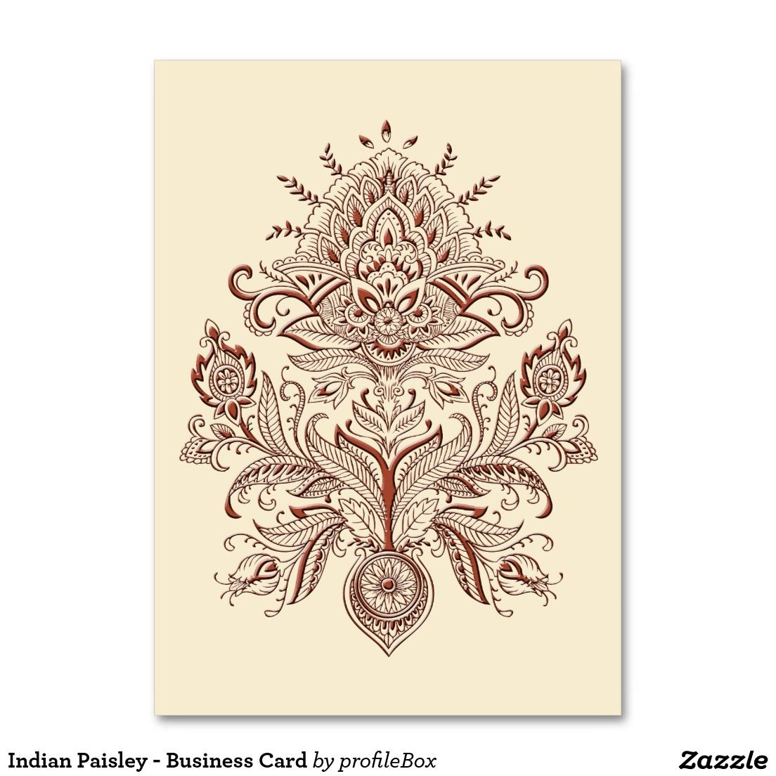Indian Paisley - Business Card | Business cards and Business