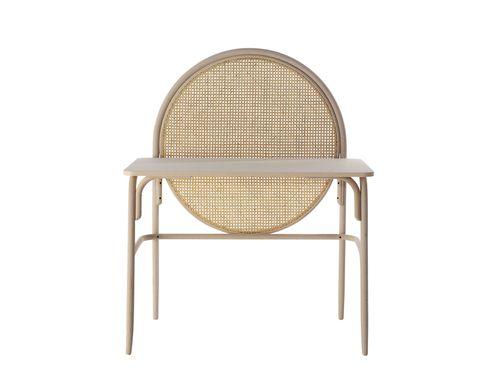 39 allegory 39 wood desk with woven cane screen gamfratesi for Mobili italiani design