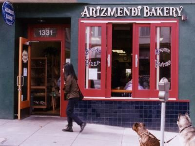 Arizmendi Bakery near Golden Gate Park. Serving sourdough rolls, pastries, baguettes, and slabs of fantastic pizza, this worker-owned co-operative is steadily becoming a Bay Area institution.