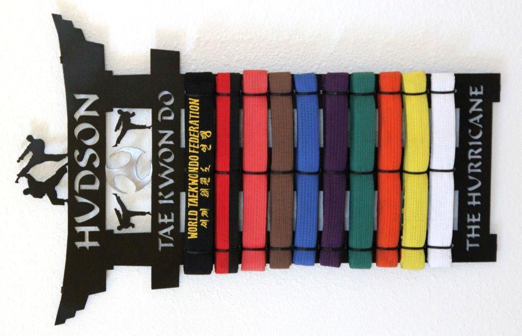 Taekwondo Belt Display Personalized Karate Belt Holder Martial Arts Belt Rack Martial Arts Belts Karate Belt Display Taekwondo Belt Display