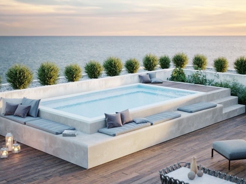 Pin By Ana Cristina Sanchez On Habitacion In 2020 Small Pool Design Rooftop Terrace Design Jacuzzi Outdoor